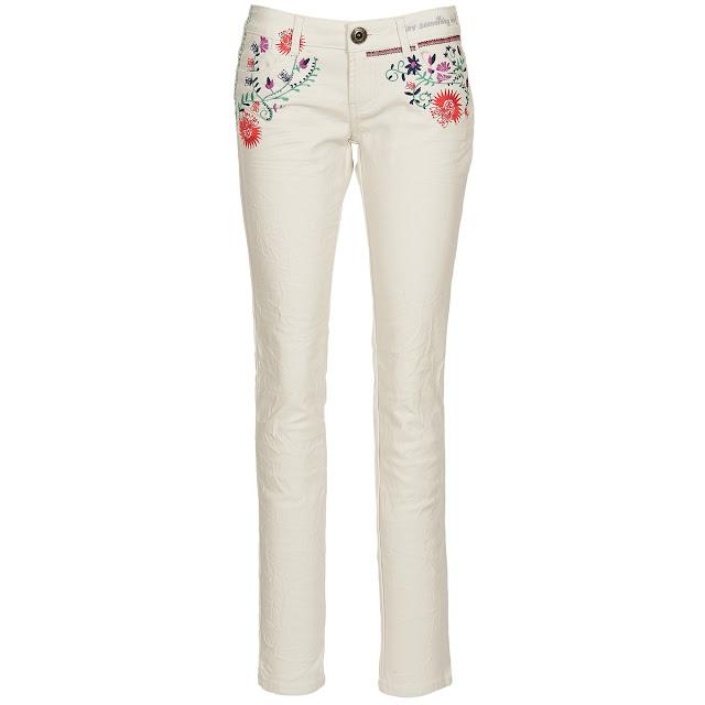 desigual, pantaloni skinny bianchi spartoo