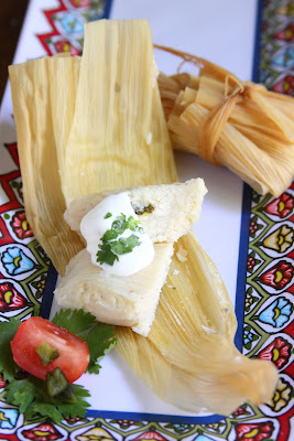 showfood chef sweet corn and goat cheese tamale appetizers