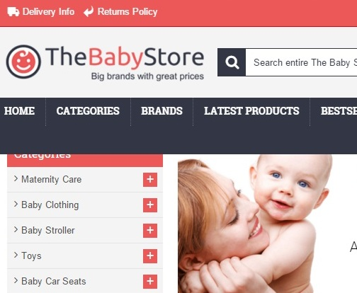 shopping online barang bayi the baby store