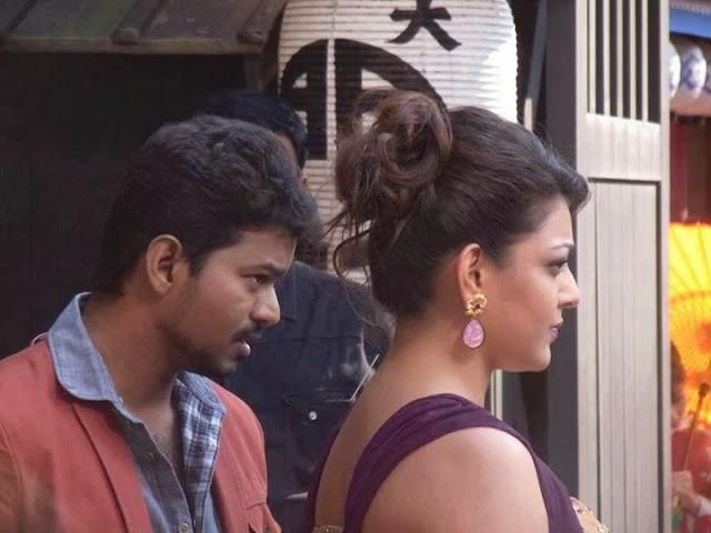 Ilayathalapathy Vijay & KajalAggarwal @ Jilla shooting spot