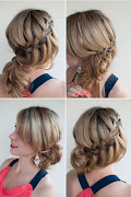 . you could do a very fine waterfall braid across as well.