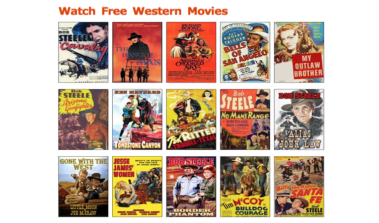 Watch Free Full Movies on Western Mania