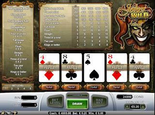 Joker Wild 1 hand poker free