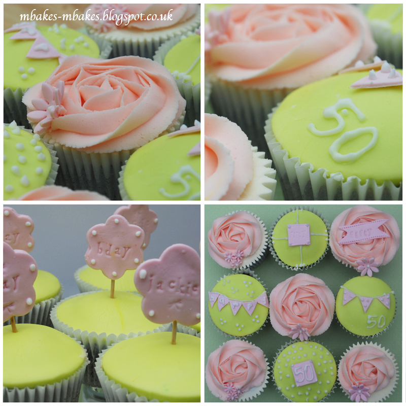 Cupcake Decorating Ideas For 50th Birthday : mbakes: 50th Birthday Vintage Cupcakes
