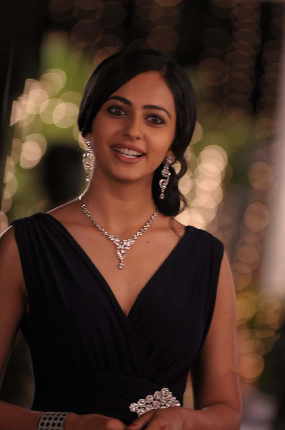 Rakul Preet Latest HD Stills in Black Dress