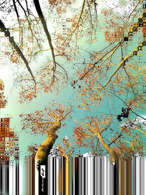ramas arboles matte painting color