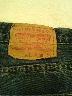 Levi's 550 Jeans pants showing the patch on back.