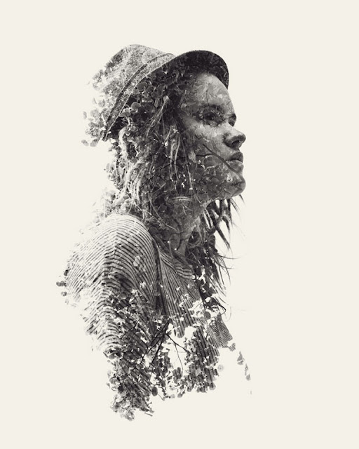 Christoffer Relander,retratos,exposicion,multiple,exposure,Portraits,We Are Nature,blanco,negro,black,white,second,girl