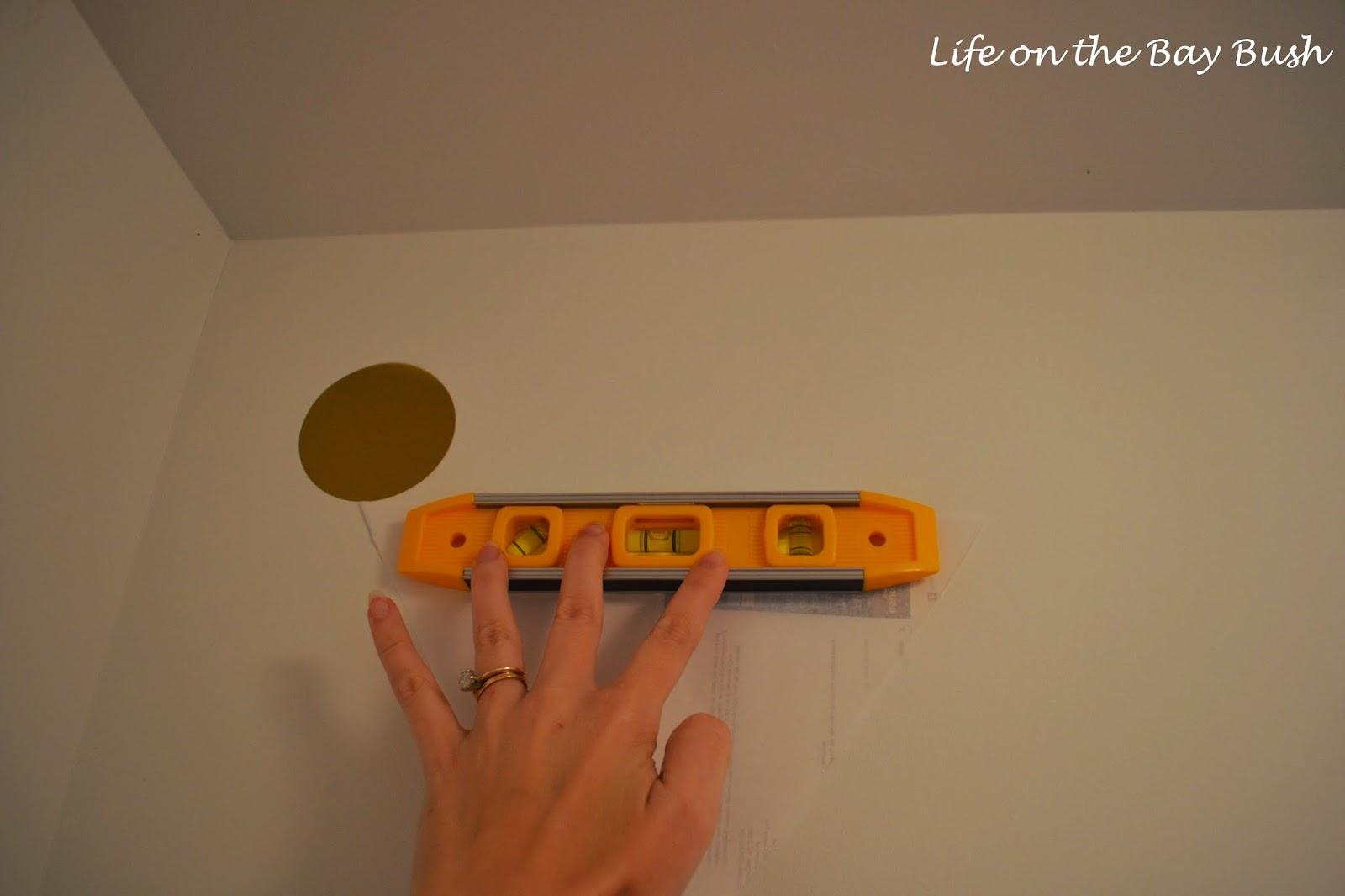 how to make a polka dot wall
