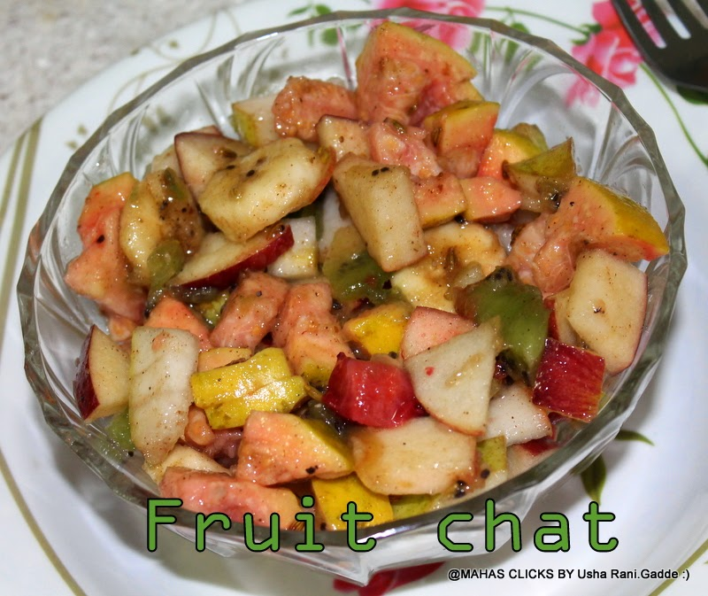 Mahaslovelyhome : Mixed fruit chat/Indian style spicy ...