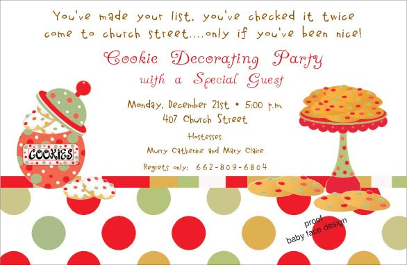cookie decorating party invitation - Christmas Cookie Decorating Party