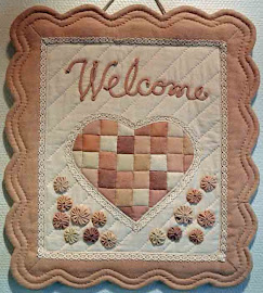 Welcome wall hanging quilt
