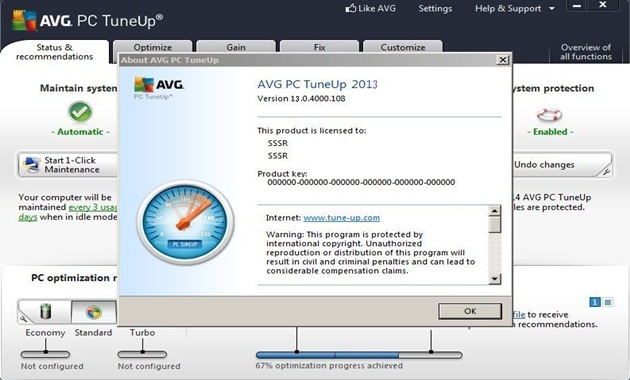 Avg Pc Tuneup 2013 License Key Free Download