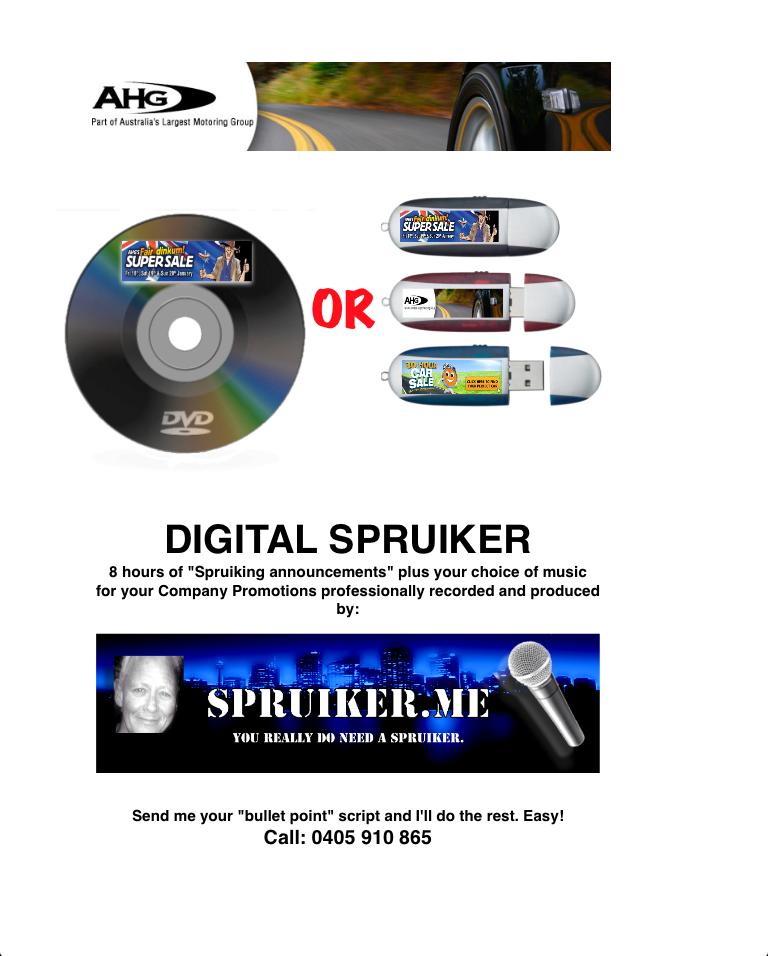 Spruiker Presenter Announcer Recorded Spruiker