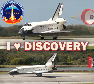 Shuttle Discovery's Mission STS-133 – The Final Mission – Landed 9 March 2011. NASA, 2011.