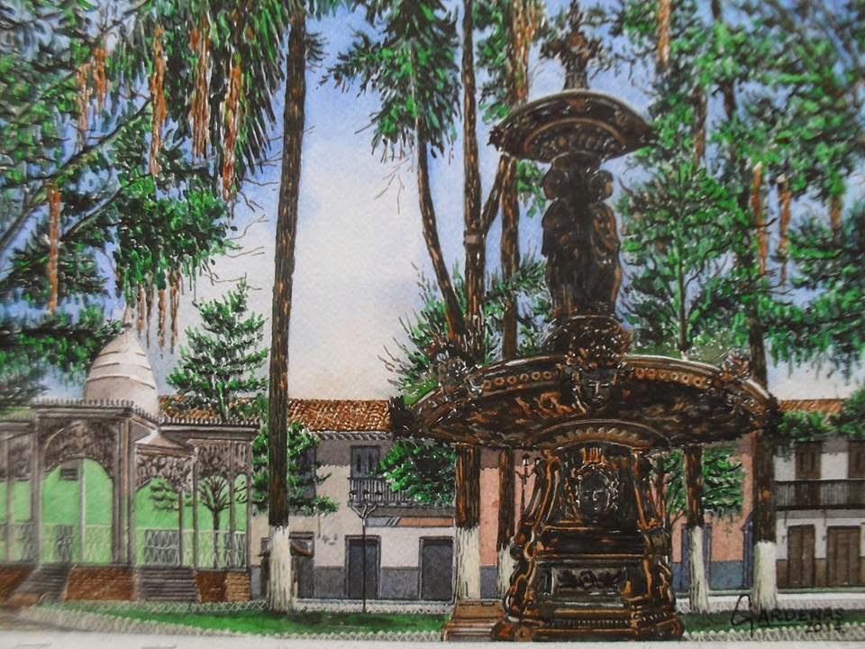 Acuarela Plaza de Bolivar