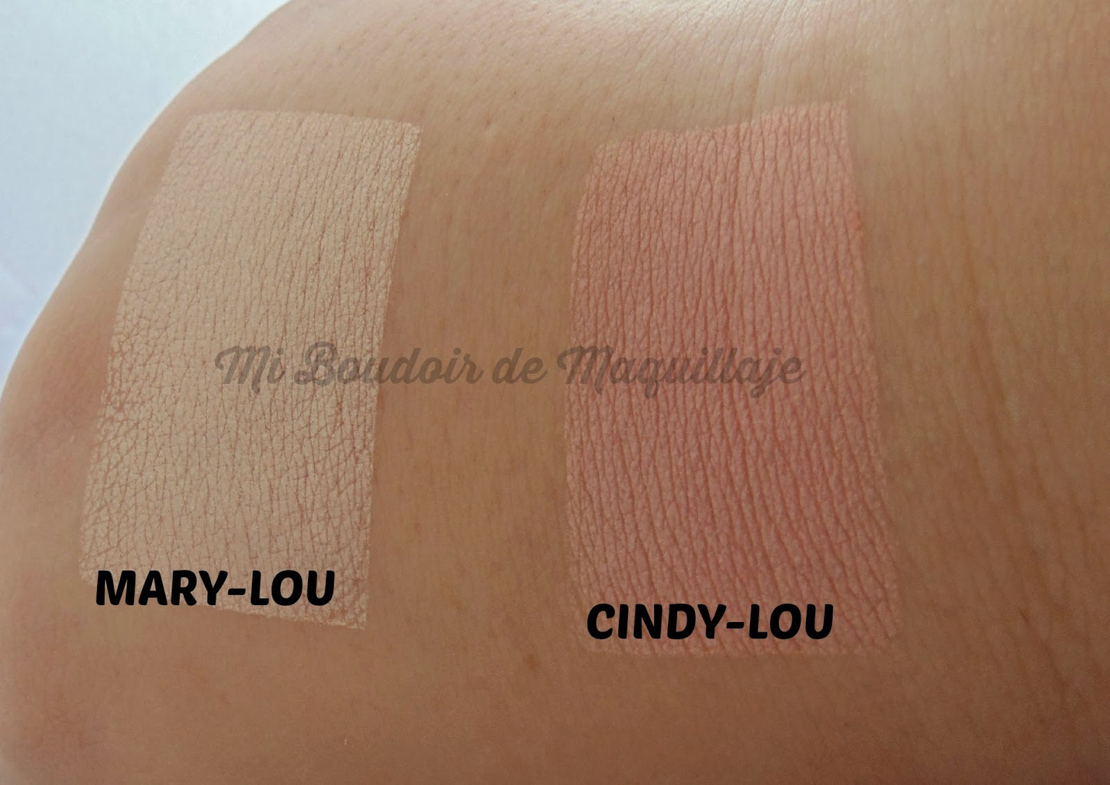 The Balm Mary-Lou Cindy-Lou Manizer swatches