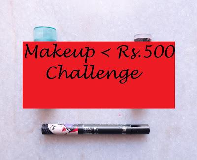 Makeup for 500 INR challenge image