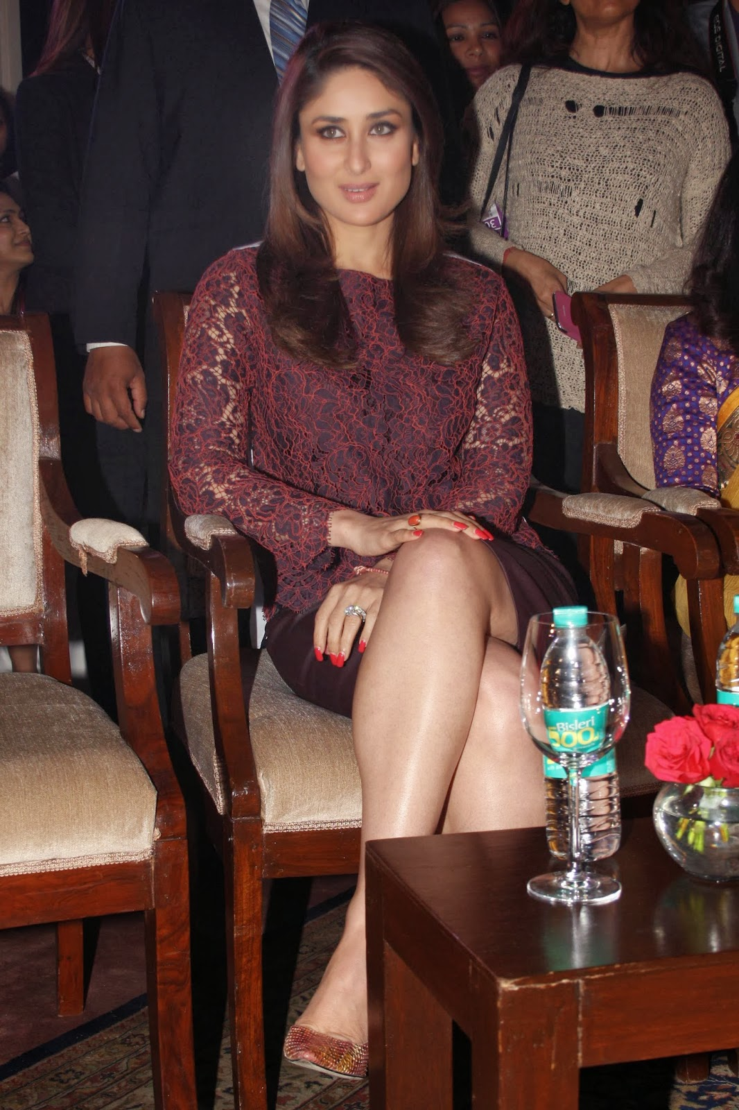 Bollywood Diva Kareena Kapoor At 'Naturals' Salon Chain Brand Ambassador Announcement Ceremony in Delhi