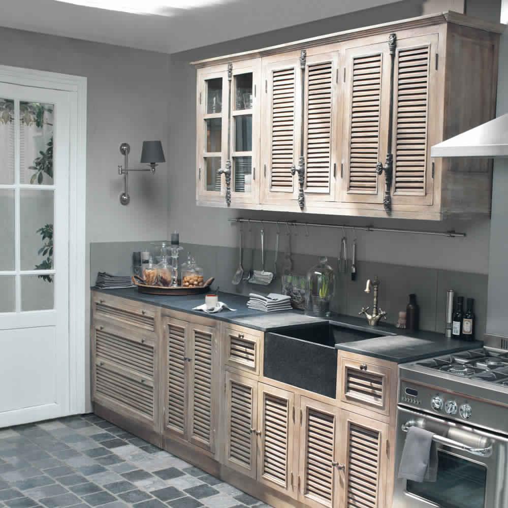 Meuble cuisine en bois modle meuble de cuisine dessus for Meuble de cuisine en bois blanc