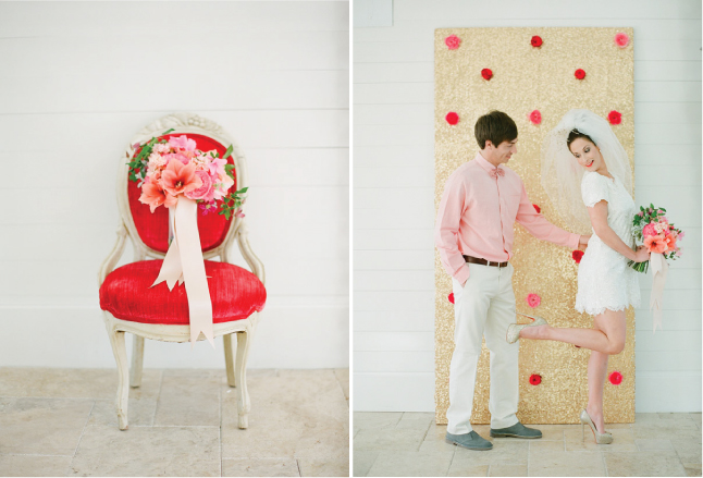 I'm loving the colors of Red And Pink Wedding Ideas With A Splash Of Gold