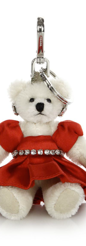 Prada Charlotte Crystal-Embellished Bear Keychain