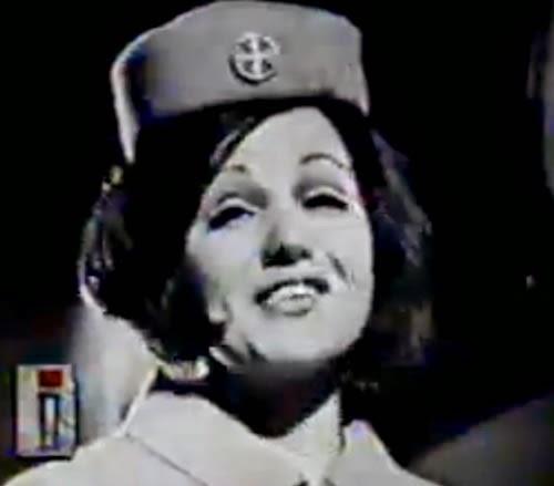 Campanha da Varig dos anos 60 que buscavam motivar as garotas a serem aeromoças da empresa.