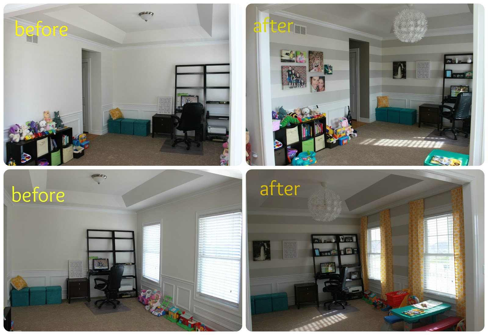 playroom and office. It Is A Playroom/office Combination So I Wanted To Be Fun, Colorful, And Simple. Playroom Office S