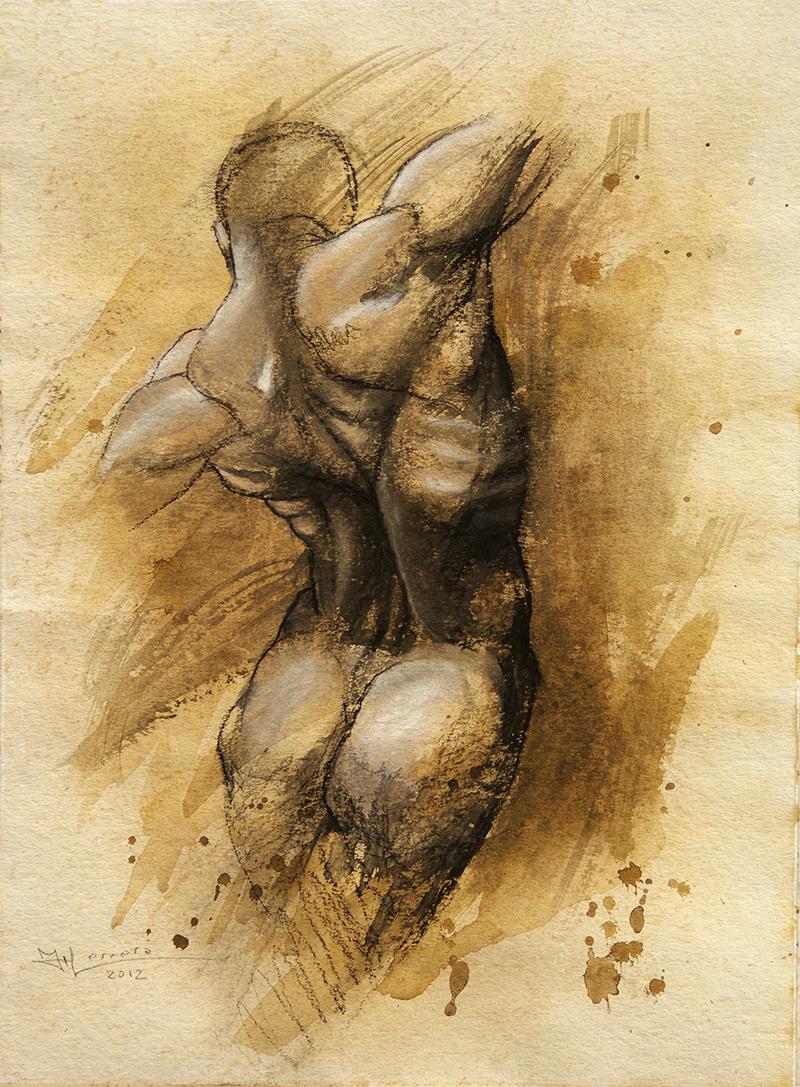 Taller de Arte Juan Herrera: Anatomía Artística estudio de la espalda