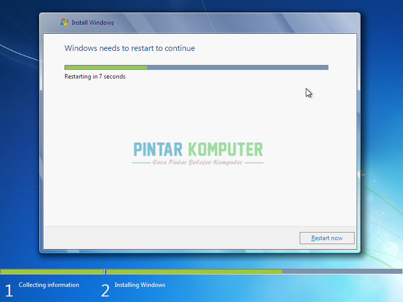 ! Jika proses Expanding Windows Files telah selesai dan komputer ...