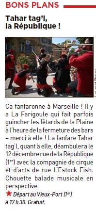 La fanfare Tahar Tag'l sur le quotidien gratuit 20 Minutes Marseille
