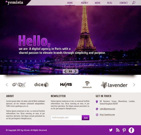 Website Template with PSD File