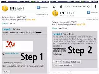 langkah daftar instant
