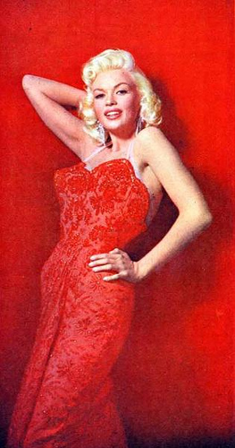 Jayne Mansfield with dresses