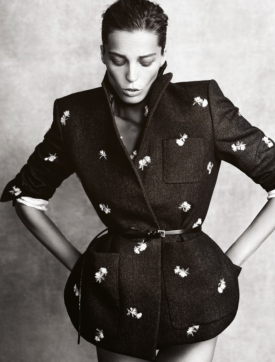 via fashioned by love | Daria Werbowy in Madame Figaro November 2013 (photography: Nico, styling: Julie Gillet)