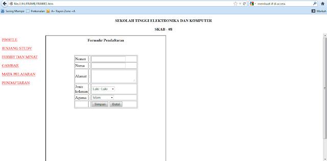 Hasil Latihan HTML Iframe di Adobe Dreamwever | www.noterian.blogspot.com