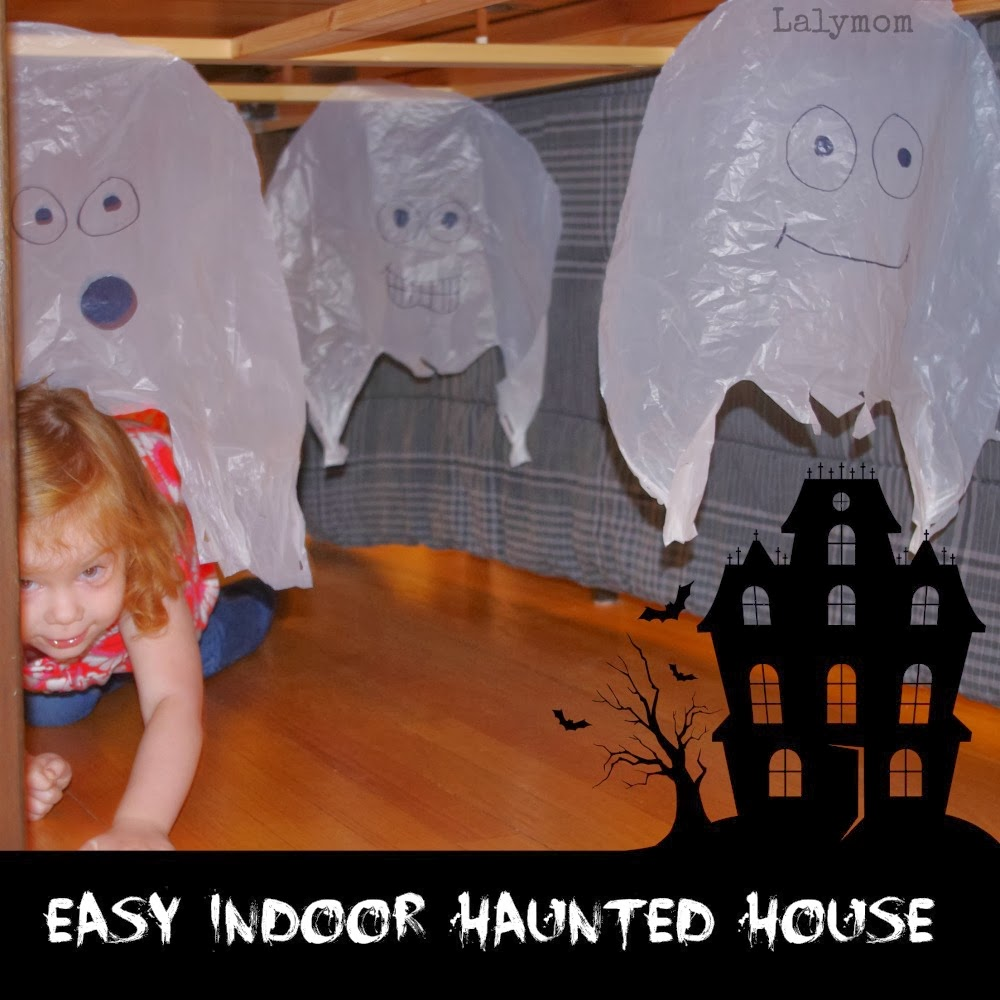 Easy indoor halloween obstacle course for kids lalymom for Spooky haunted house ideas