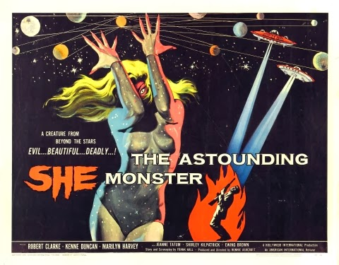 Poster - The Astounding She Monster (1957)