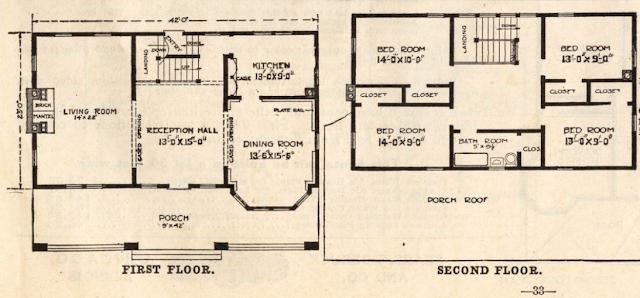 sears house model 124 floor plan