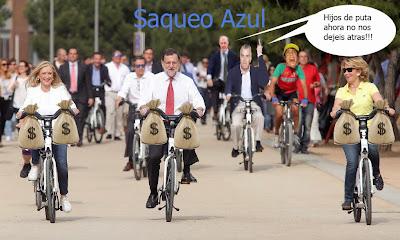Memes de Rajoy, Aguirre y Cifuentes en bici
