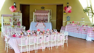 Fiestas Infantiles Decoradas con Minnie Mouse, parte 1