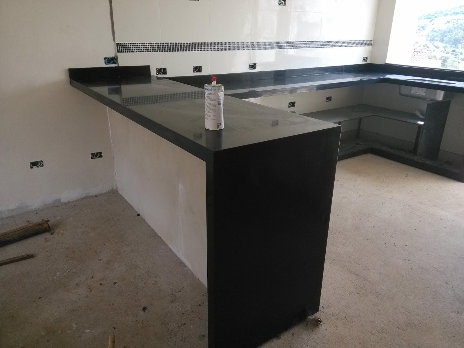 cozinha foi o granito preto são gabriel sempre amei cozinhas com #444E5B 1600 1200