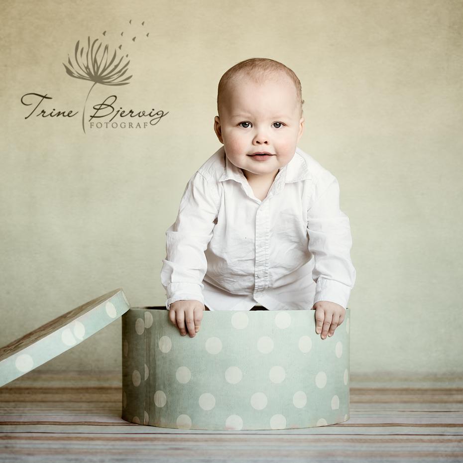 1 års fotografering - liten gutt - fotografert av Fotograf Trine Bjervig i Tønsberg