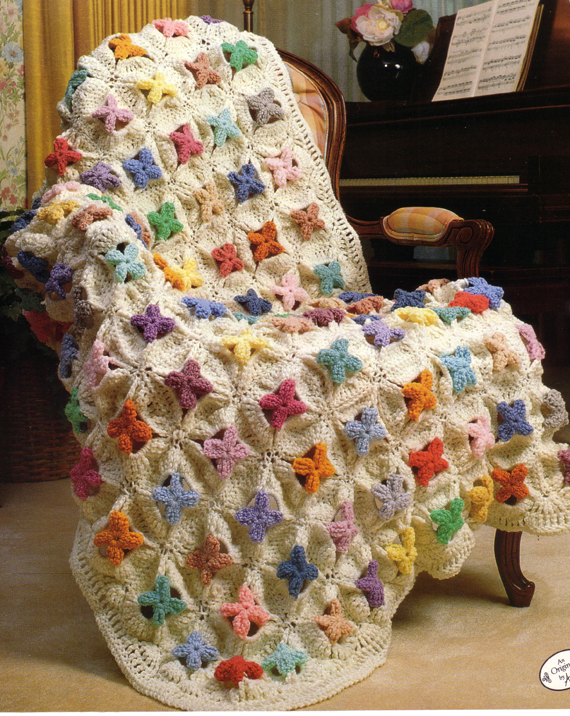 Free Crochet Pattern For Cathedral Window Afghan : Rambling Ivy Caravan: Cathedral Window Traditional Quilt ...