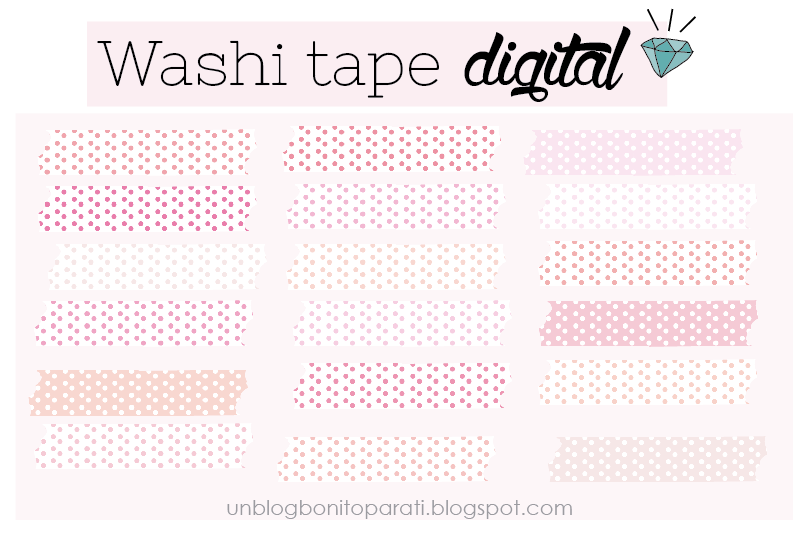 washi tape digital rosado