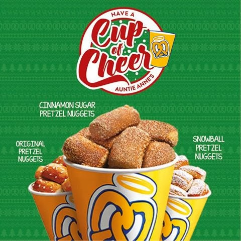 Auntie Anne's cup of cheer