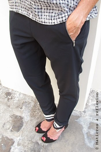 Pantalon Custommade jogging bleu marine