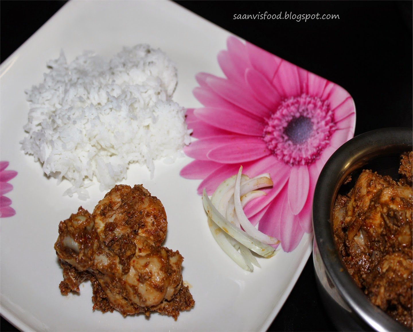 spicy  chicken ghee roast