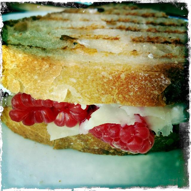 Raspberry Ricotta Grilled Cheese Sandwich