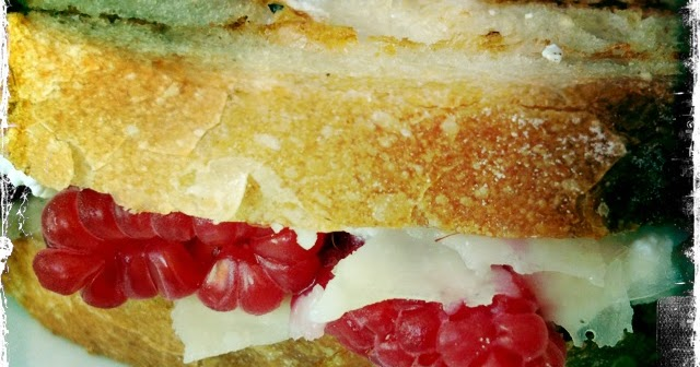 Full Belly Sisters: Raspberry Ricotta Grilled Cheese Sandwich